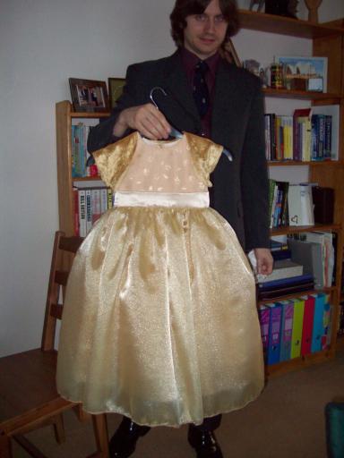 Jean's dress arrives