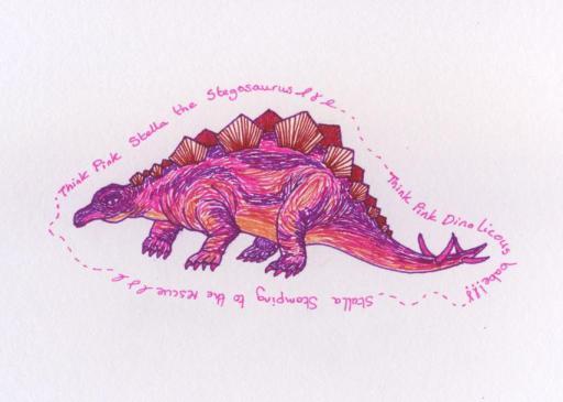 Think Pink Dinosaur