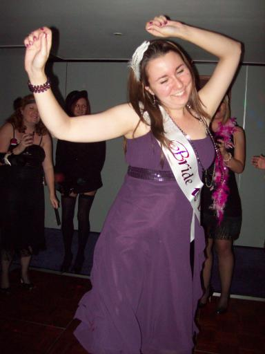 Michelle dancing on her hen night