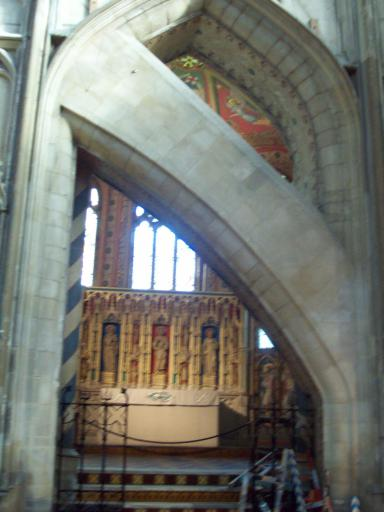 Funky arch at Gloucester Cathedral