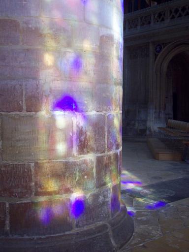 Purple Speckled column