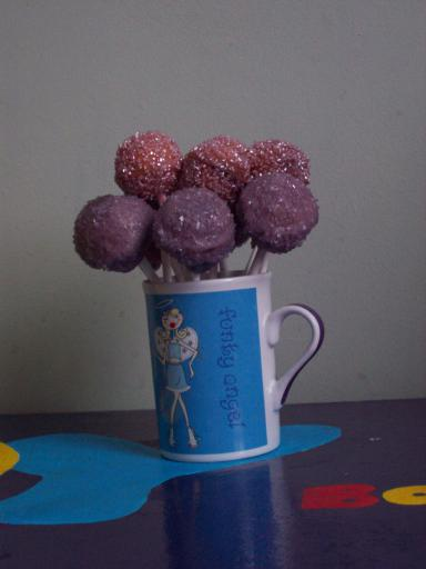 Mauve and Pink Sparkle Cake Pops