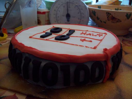 Marker on side of Turing Machine Cake