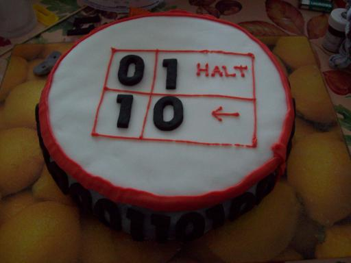 State Table on top of Turing Machine Cake