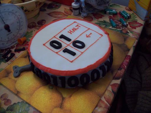 Wind Up Turing Machine Cake