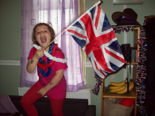 Jean cheering Team GB