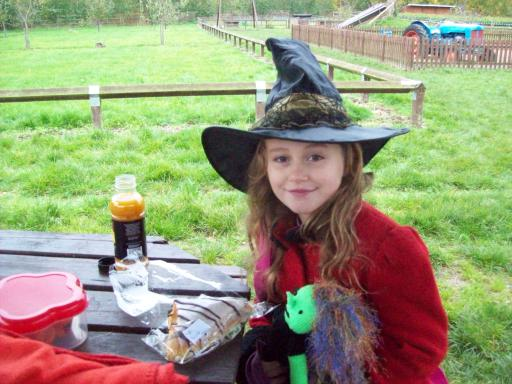 Witches eat breakfast at Primrose Vale Farm Shop