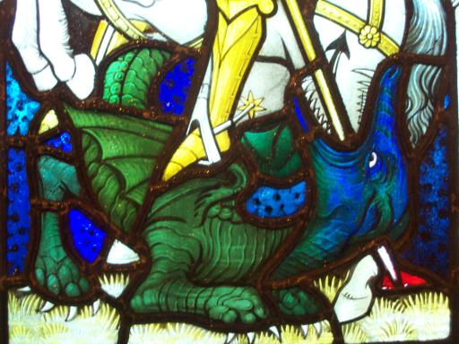 Stain glass dragon