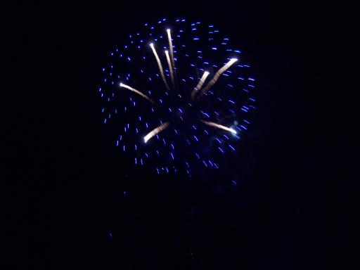 White in Blue firework