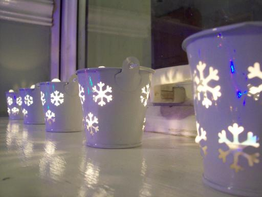 Snowflake Tea Light Buckets