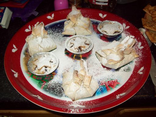 Home made mince pies and parcels