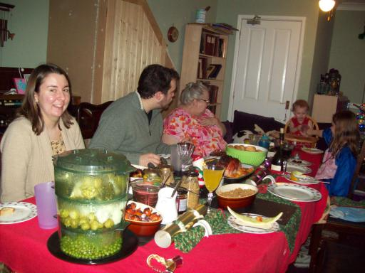 The Pym Christmas Table spread 2012