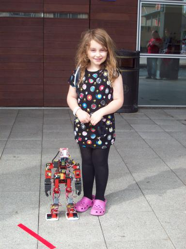 Jean with Robot at AT Bristol