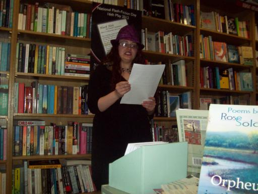 Sarah Snell-Pym Reading at National Flash Fiction Day