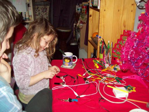Christmas electronics with a 4 yr old