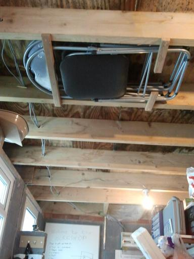 Chair storage in the rafters