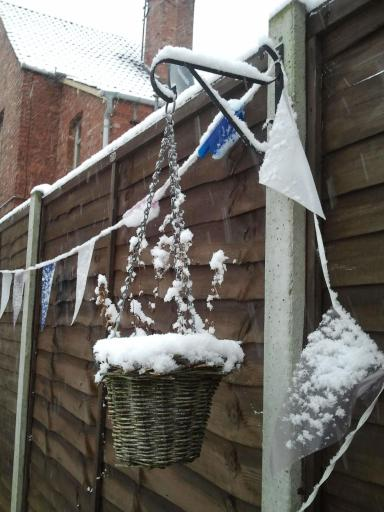 Iced plant post and bunting