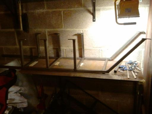 Ready to start welding the rungs in