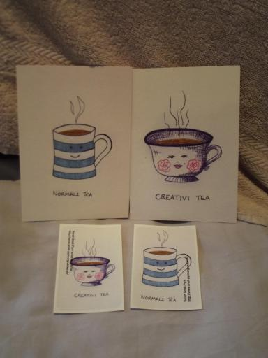 Tea Postcards and stickers