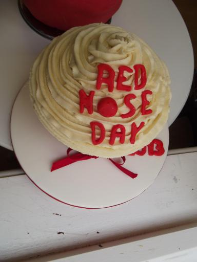 Red Nose Day Giant Cup Cake