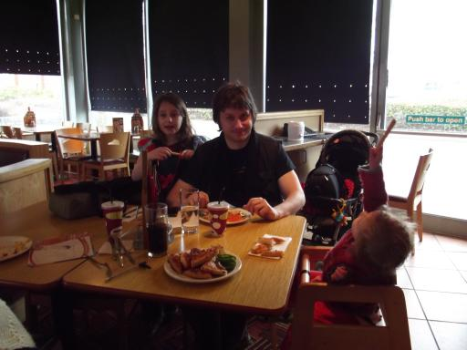 Alaric's Birthday meal with bread stick wands
