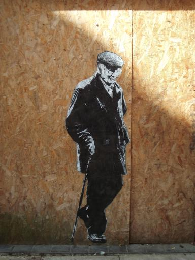Old man Graffiti Gloucester