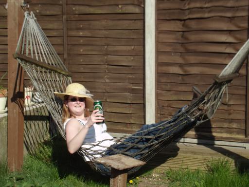 Beer, hammock, sun