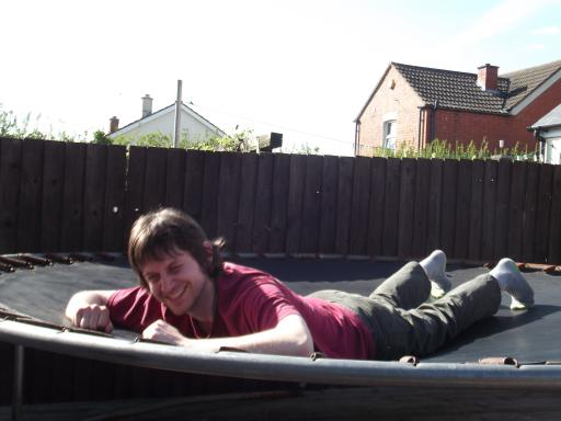 I know how to use the trampoline honest