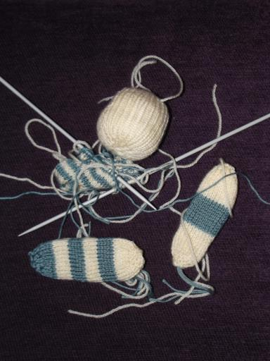 Knitting balls for baby