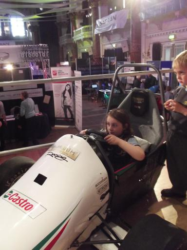 Jean racing at the Cheltenham science festival