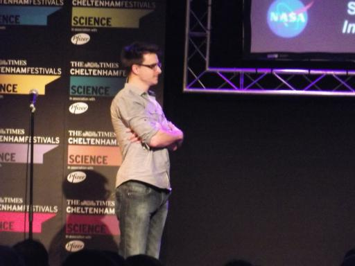 Lewis Dartnell talking Mars rovers at the Cheltenham Science Festival