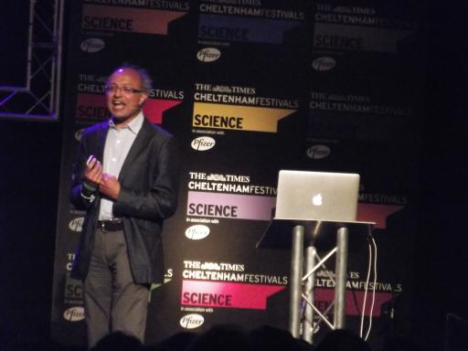 Sanjeev Gupta talking Martian landscapes at the Cheltenham Science Festival