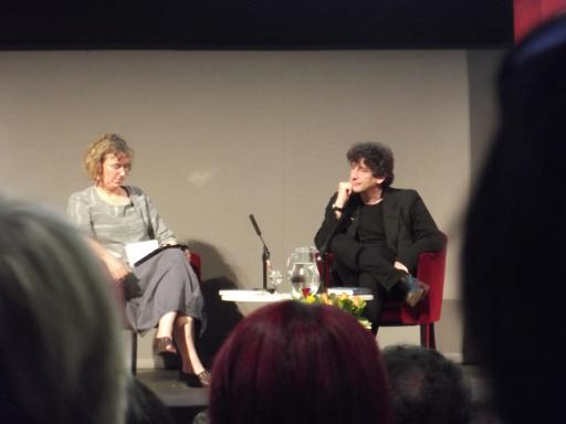 Neil Gaiman and Claire Armitstead RSL