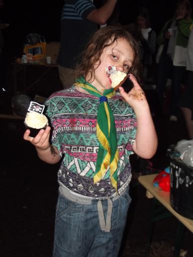 Jean eats cake! Cranham Cubs