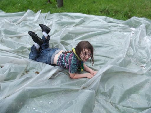 Jeany on the mud slide