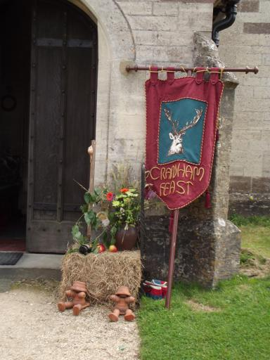 Cranham Feast Banner and Flower Display