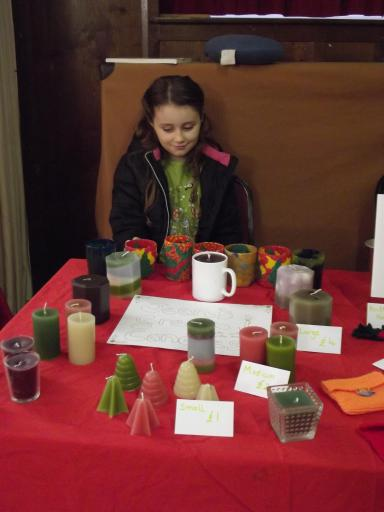 Jeany selling her candles