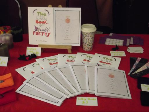 Little Books of Poetry for Sale at the Cranham Craft Fair