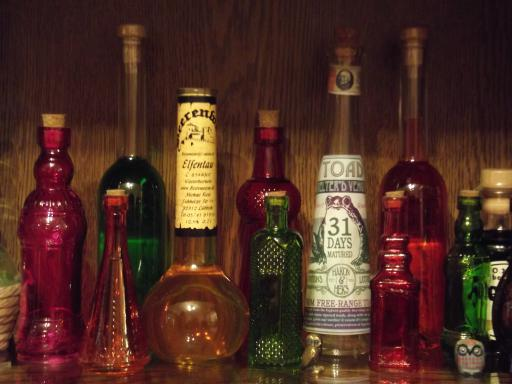 The potions store cupboard