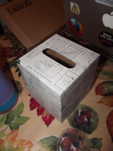 Geekery tissue box craft