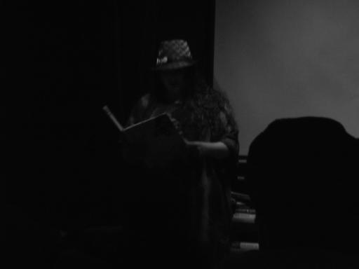 Sarah Snell-Pym reading her poetry at the Art House Bristol