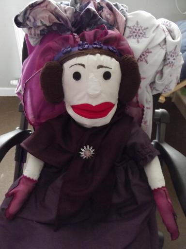 Ada Lovelace puppet head mk2