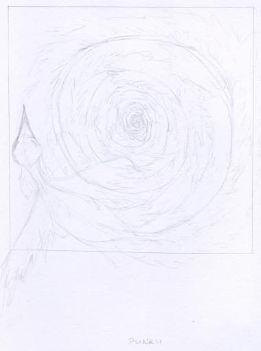 Punku emblem pencil sketch