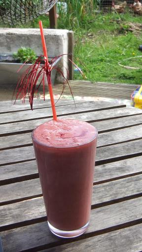 Raspberry and Banana smoothy