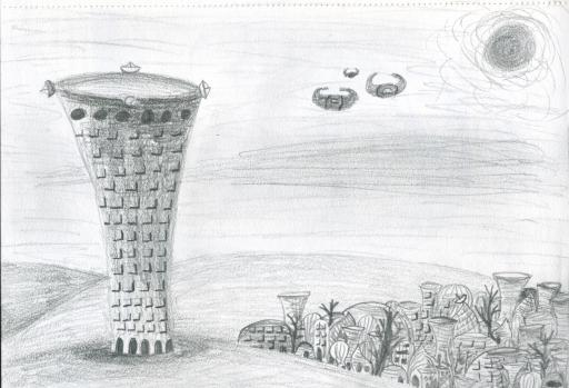 Babel Pencil Sketch