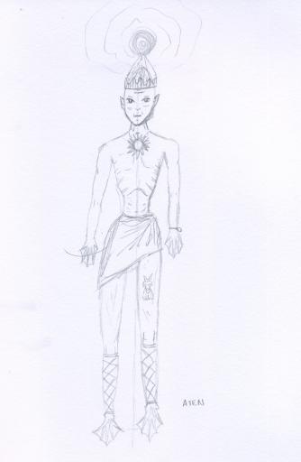 Aten penicl sketch
