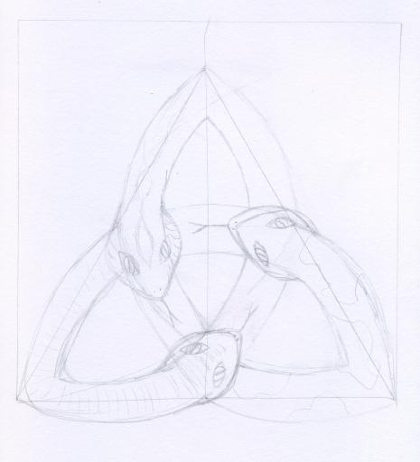 Itsu's emblem pencil sketch