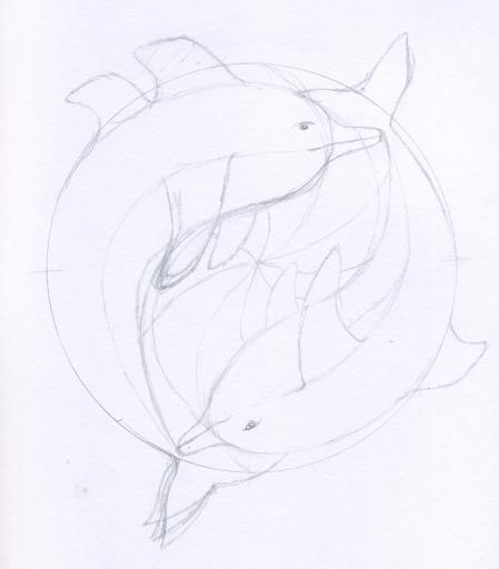 Morlock's dolphin emblem pencil