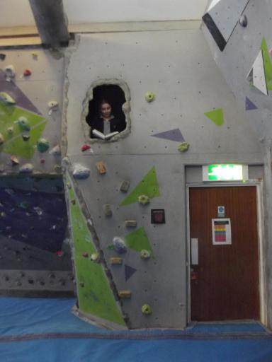 Jeany reading in the cave