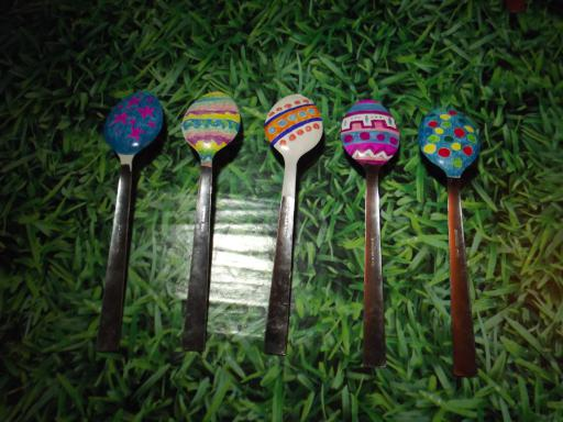 Easter Egg Spoon garden ornaments